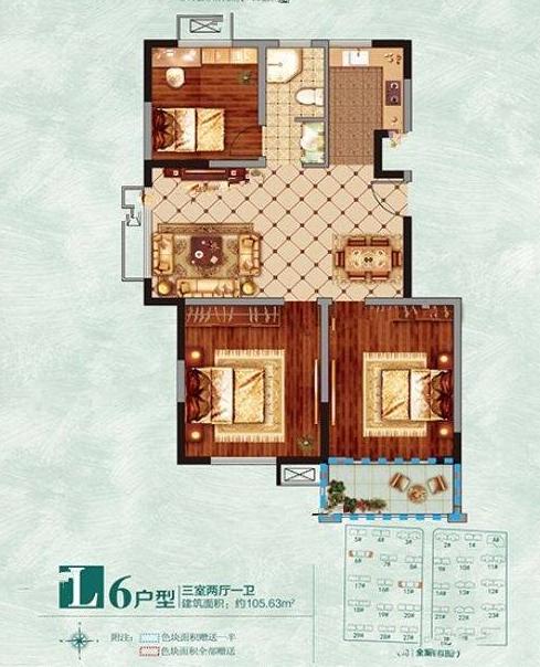 L户型106m²