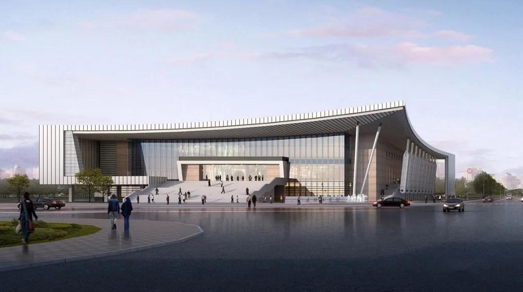第二十届省运会场馆,姜堰区体育馆、游泳馆主体完工